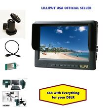 "LILLIPUT 7"" 668 HDMI field on-camera top  W/HDMI & BNC YPbpr + Battery+Hot shoe"