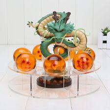 Dragon Ball Z Anime Figure Set Esferas Del Shenlong green Dragon+7 Balls+Shelf