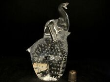 Marcolin Brothers FM Ronneby Swedish Lead Crystal Elephant Figurine/ Paperweight