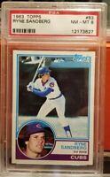 1983 Topps Ryne Sandberg Rookie Card #83 PSA 8 NR-MT SP Chicago Cubs HOF Legend