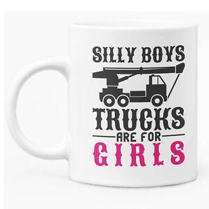 Caption Mug 11oz White Ceramic Coffee / Tea Mug Gift For Lady Trucker