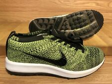 Nike Women Flyknit Racer  Golf Shoes Volt Sequoia Black Size 7