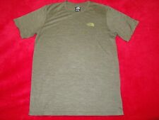 The North Face Flash Dry Mens Army Green Short Sleeve Shirt Size Small