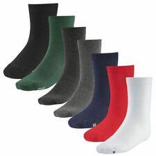 Pack of 6x 12x Premium Ladies Womens Girls Plain Socks Cotton Rich Ankle Socks
