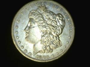 1883-S Morgan Dollar Space Filler Cleaned