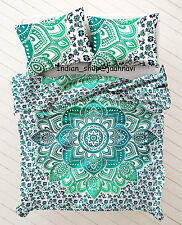 Indian Duvet Doona Mandala Bohemian Queen Quilt 2 pillow Cover Blanket Hippie