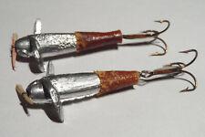 2 ancien devon leurre non siglé spinner lure vintage fishing antique