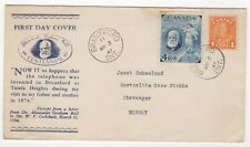 1947 Mar 3rd. First Day Cover. 100th Anniversary Alexander Graham Bell.