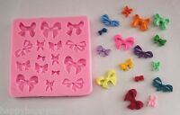 Ribbon Bows Lace Silicone Mould Party Cakes Sugarcraft Fondant Wedding Birthday