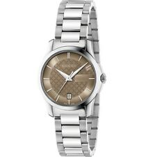 Gucci YA126526 G-Timeless Analog Display Analog Quartz Silver Women's Watch