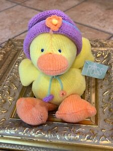 """RUSS TOOTLES BOUQUETS N BLOSSOMS DUCK CHICK 11"""" STUFFED ANIMAL EASTER NEW NWT"""