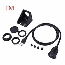 USB2/3.0 EXTENSION Cable 1M Male Plug to Female Socket Dashboard Flush Mount