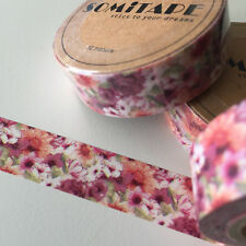 WASHI TAPE SOMI PRETTY PINKS FLORAL 15MM X 10MTR PLAN CRAFT WRAP SCRAP