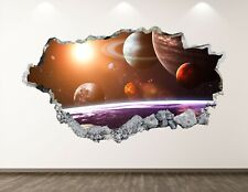 Galaxy Space Wall Decal Art 3D Smashed Kids Universe Sticker Home Sticker BL24