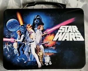 Classic STAR WARS: A NEW HOPE Large Tin Tote / Metal Lunch Box Brand New