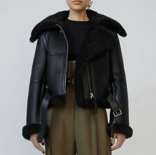 """Acne Studios """"Raf"""" Shearling Leather Jacket - NWT Size 36 (S/M)"""