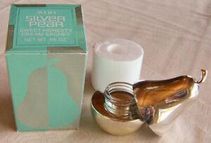 """Vintage 1977 Avon """"SILVER PEAR"""" Sweet Honesty Cream Sachet FULL .66 oz. - NEW!"""