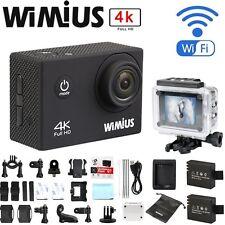 Wimius 4K 16MP Action Sports Camera DV WIFI Waterproof Helmet Cam fr Gopro + Bag