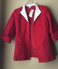 Austin Reed Broadhurst Red White Cotton Jacket 10