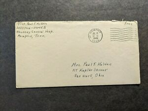 KENNEDY HOSPITAL, MEMPHIS, TENNESSEE 1945 WWII Army Cover TENN, TN w/ letter