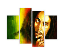 """EXTRA LARGE CANVAS PRINTS ICONIC BOB MARLEY PHOTO 4 PANEL 35""""(90cm) XXL PICTURES"""