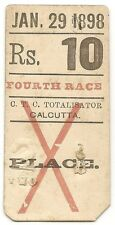 India CTC Calcutta Turf Club 1898 Betting ticket Race 4