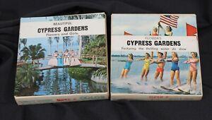 2 Vtg Cypress Gardens 8mm Movie Reels Florida Tourist Souvenir Color Film