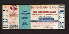 1973 NLCS Ticket Stub Cincinnat Reds New York Mets Game 1 Rose Bench Home Runs