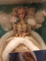 Happy Holidays special edition Barbie doll golden color gown 1994