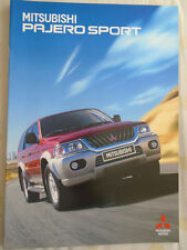 Mitsubishi Pajero Sport brochure Nov 1999 Swiss market German text