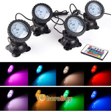 Colored Submersible 36 LED RGB Spot Lights Underwater Pool Fountain + IR Remote