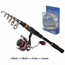 KastKing Fishing Rod & Reel Combos 1 Reel+1 Rod+1 Line+1 Lure Spining Combo