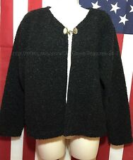 Alps Finest Quality Apparel Black Zipped Sweater Size Medium