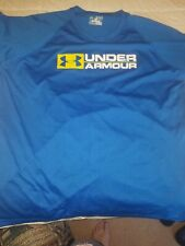 Under Armour Adult Large Heatgear Shirt Blue And Yellow used but great Condition