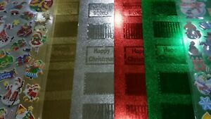 8 X A4 FOIL BACKING SHEETS & STICKER SETS -  3 SETS TO CHOOSE FROM