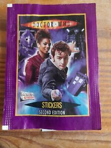 Vintage Dr Who Packet of Stickers- Merlin / Topps / Radio Times - Second Edition