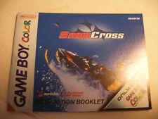 Retrogaming NINTENDO GBA Game Boy COLOR Notice SNOW CROSS manual instructions