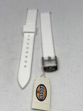 Fossil Bracelet Strap FTJ9025 Rubber Watch Strap 12mm White Q Dreamer - C34