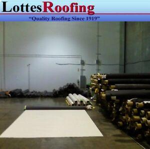 10' x 30' 45 Mil White TPO RV Rubber Roof Kit, membrane, adhesive, tape, caulk