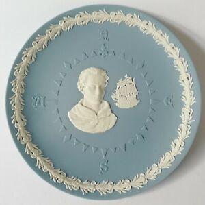 Wedgwood Blue Jasperware Christopher Columbus 500th Anniversary Display Plate