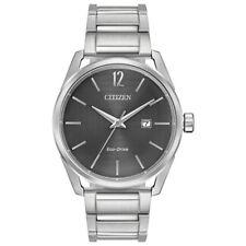 Citizen Eco-Drive CTO Men's Grey Dial Silver-Tone 42mm Watch BM7410-51H