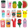 New Cute Fruit Animals Cartoon Soft Silicone 3D Case Cover Back Skin For iPhone