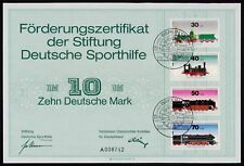 SPORTHILFE ZERTIFIKAT 1975 CERTIFICATE GERMAN OLYMPIC COMMITTEE EISENBAHN za10