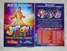 JOE McELDERRY Joseph & Amazing Technicolor Dreamcoat 2017 UK Tour Promo flyers