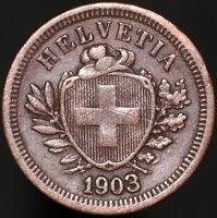 1903 B | Switzerland 1 Rappen | Bronze | Coins | KM Coins