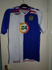 blackburn rovers players year 2007 football shirt large as playing marks