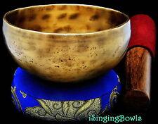 "Tibetan Meditation SINGING BOWL #5: Harmonically-balanced, 5 3/4 - 6 1/4"". VIDEO"