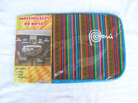 Brand New From Peru Cotton Blended Pack Of 6 Dish Table Placemats - Blue