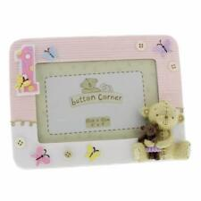 """Baby Girl  My 1st Birthday Pink Resin Frame 6"""" x 4"""" Boxed CG1205P"""
