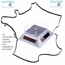 Présentoir rotatif solaire ou électrique 360 degrés pour impressions 3D, bijoux